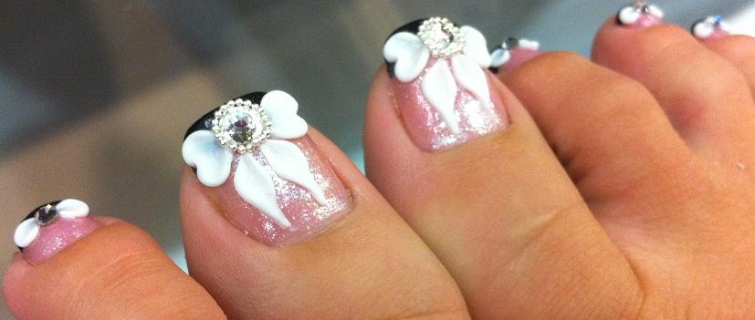Bow Toe Nail Designs