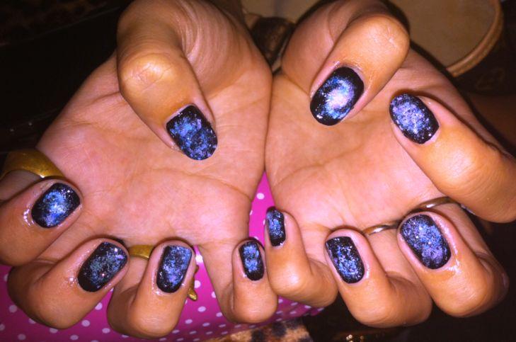 Galaxy Nails Tutorial Nailartexpress