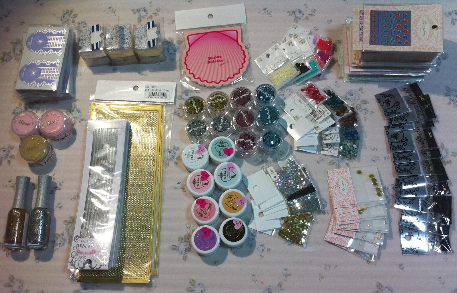 Nail supplies haul from Tokyo, Japan! – nailartexpress.com