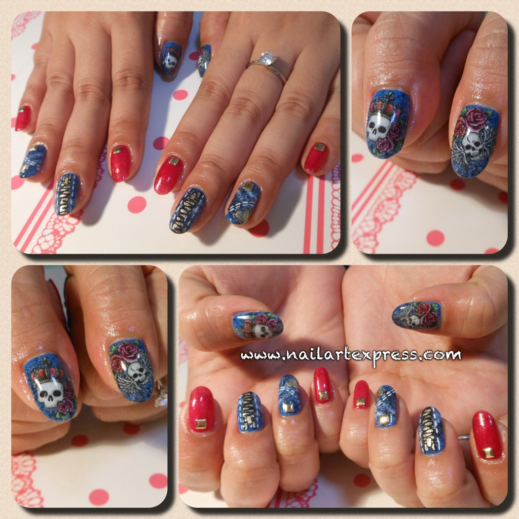 Gelish Mani: Ed Hardy Denim Nails x Sha Nail Pro – nailartexpress.com