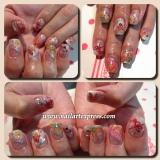 Gel Mani: Colourful Kimono x Sha NailPro