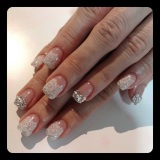 Gel Mani: Bridal Lace Stickers