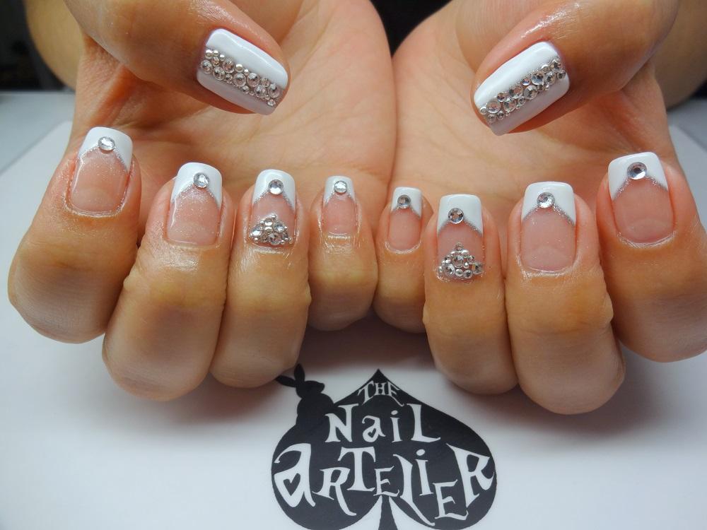 Gel Mani Bling Bridal Nails Nailartexpress
