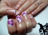 Gel Mani: Abstract Purple Marble