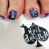 Gel Pedi: Van Gogh's Starry Night