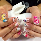Alice in Wonderland nails~