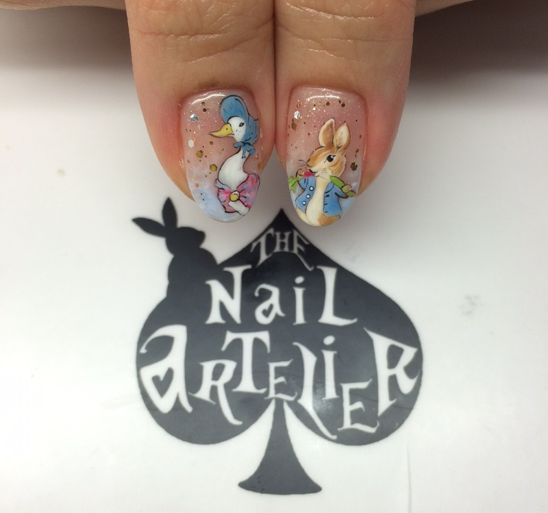 Customised peter rabbit nails nailartexpress excited when my customer sent me the pictures that she wanted me to use for reference for her customisation request i dont really know peter rabbit prinsesfo Image collections