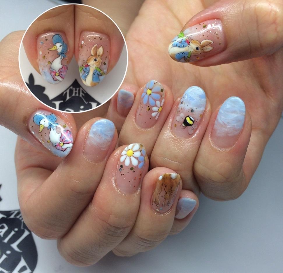 Customised Peter Rabbit Nails Nailartexpress