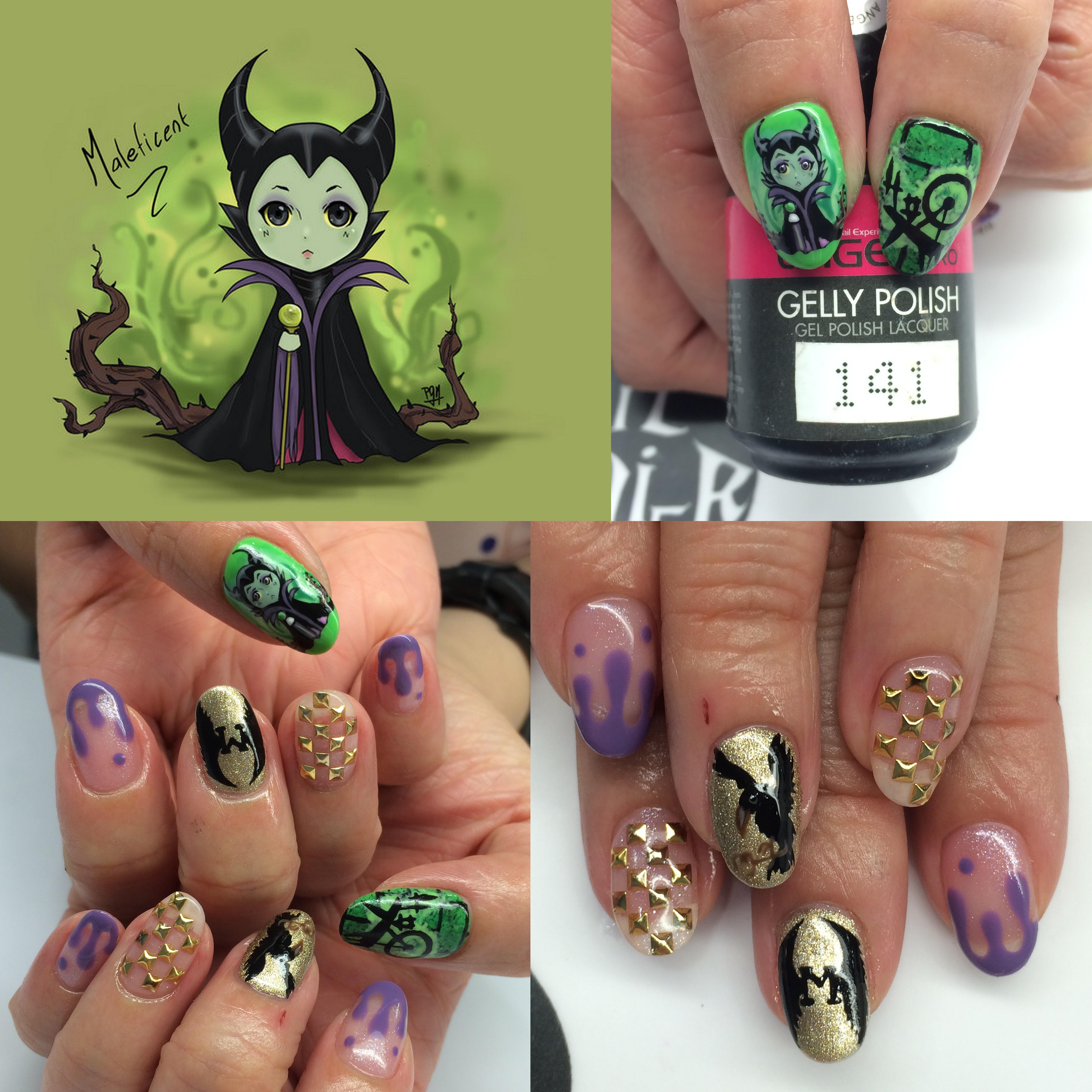 Customisation Maleficent Nails Nailartexpress Com